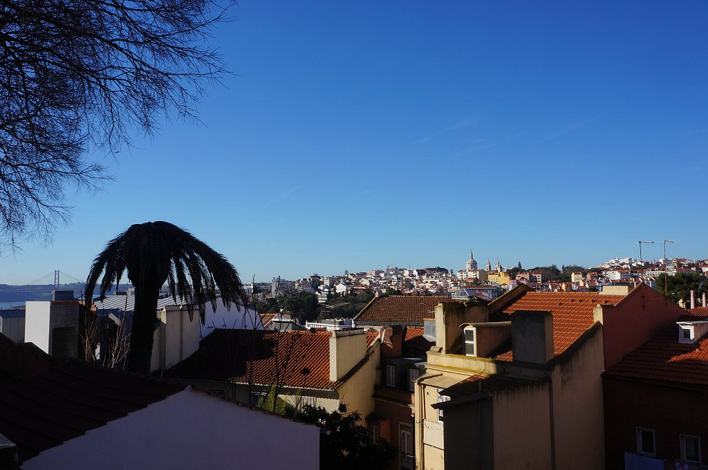 Vue depuis l'un des nombreux miradouro, Lisbonne