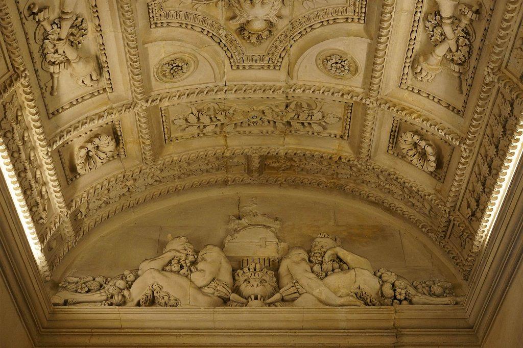 Louvre - Plafond de l'escalier Aile Sully