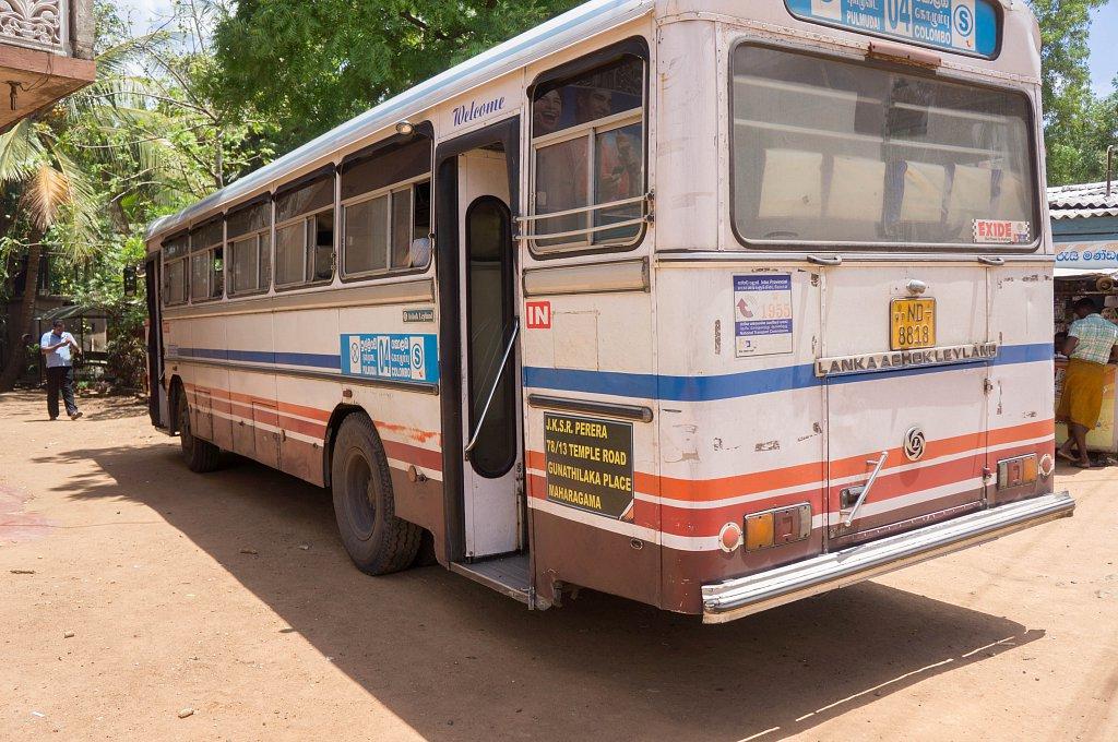 Bus line from Negombo to Anuradhapura