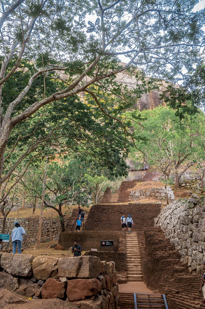 Sigiriya rock - stairs