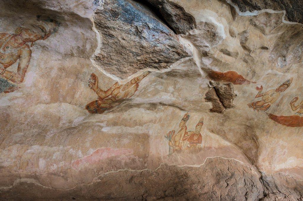 Sigiriya rock - frescoes