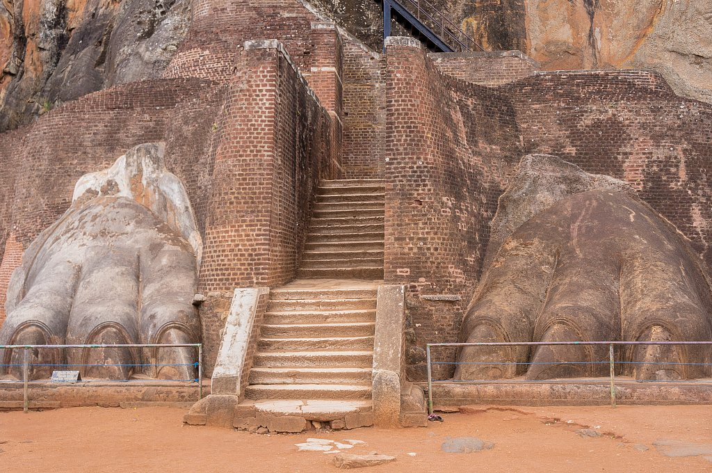 Sigiriya rock - Lion's Gate stairs