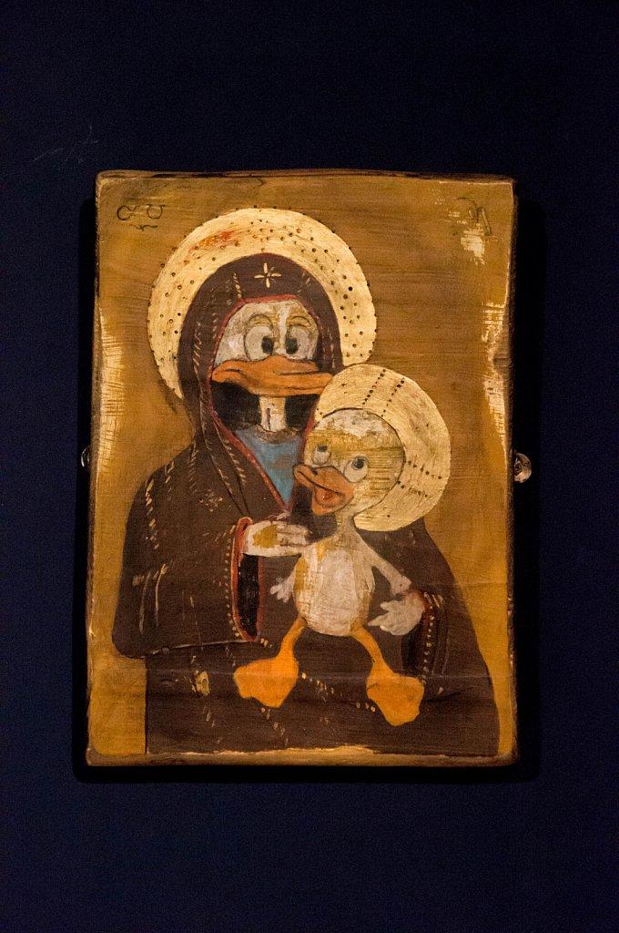 Vierge à l'enfant, par interDuck