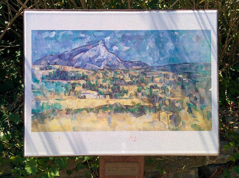 Aix en Provence - Peinture de la montagne Sainte Victoire