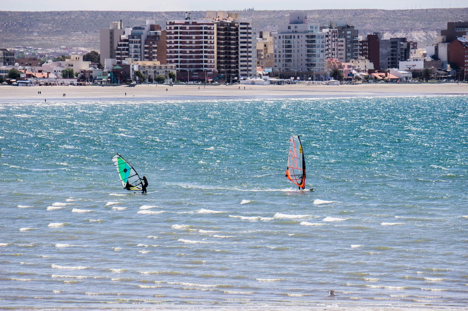 La plage de Puerto Madryn