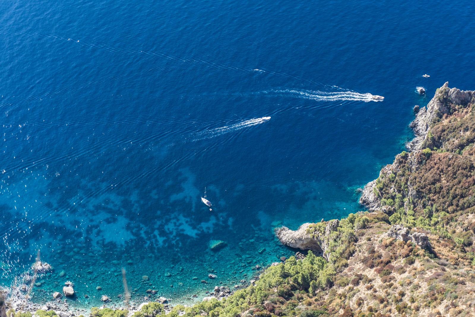Côte Nord Ouest de Capri